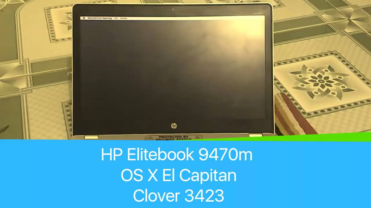 Hackintosh HP Elitebook 9470m with Clover - Seo Sần