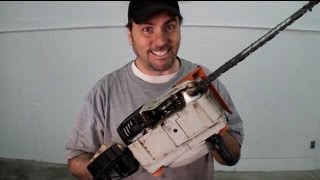 How I Got My Chainsaw Started After 3 Years of Not Using It  - EricTheCarGuy