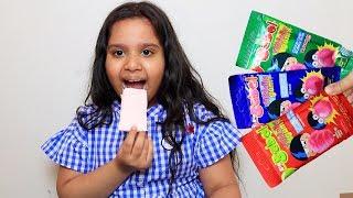 Fingers Family Kid Song Colorful fruit Bubble Gum  shfa- Kinderlieder und lernen Farben Baby