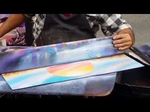 La Rambla Barcelona October 2014 - Spray Paint Artist