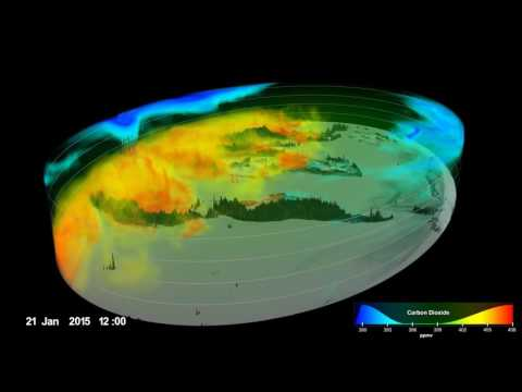 Carbon Dioxide from GMAO using Assimilated OCO-2 Data