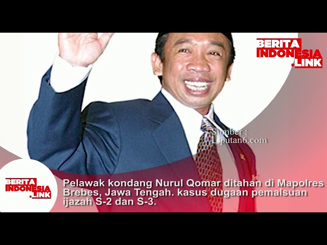 Pelawak Kondang Nurul Qomar ditahan di Mapolres Brebes, Jateng karena kasus dugaan pemalsuan ijazah