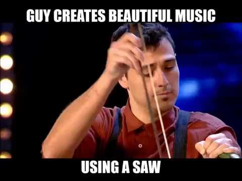 Beautiful music using a saw