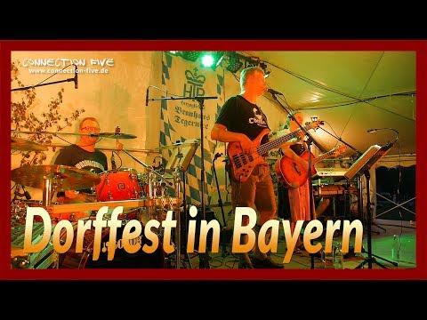 Dorffest Bayern mit Live-Musik | bayerische Band Connection Five 4k (UHD)