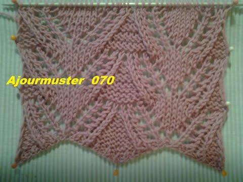 Ajourmuster  070*Stricken lernen* Muster für Pullover Strickjacke Mütze*Tutorial Handarbeit