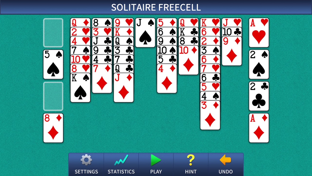FreeCell Solitaire Classic - YouTube