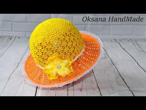 Шляпа крючком.Мастер класс. Hat crochet