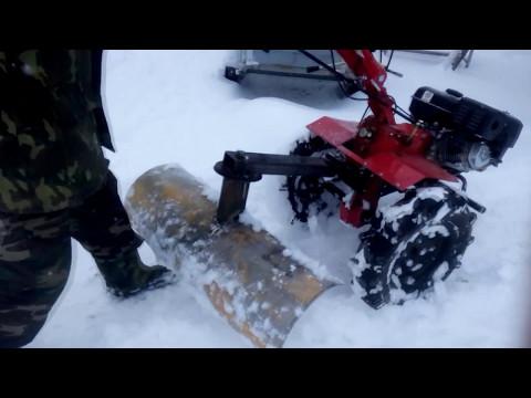 Борьба со снегом при помощи мотоблока НЕВА