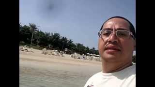 Palm Jumeirah Beach at Aquaventure Waterpark in Atlantis The Palm Resort