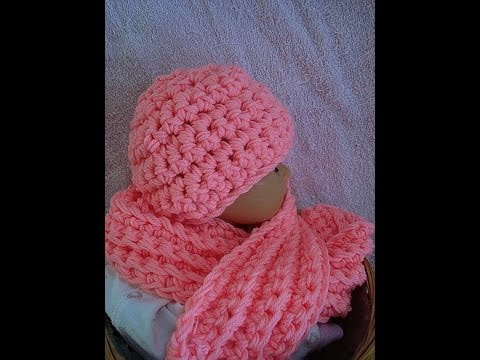 How to crochet a hat and scarf set from Sweet Potato Patterns, youtube ...