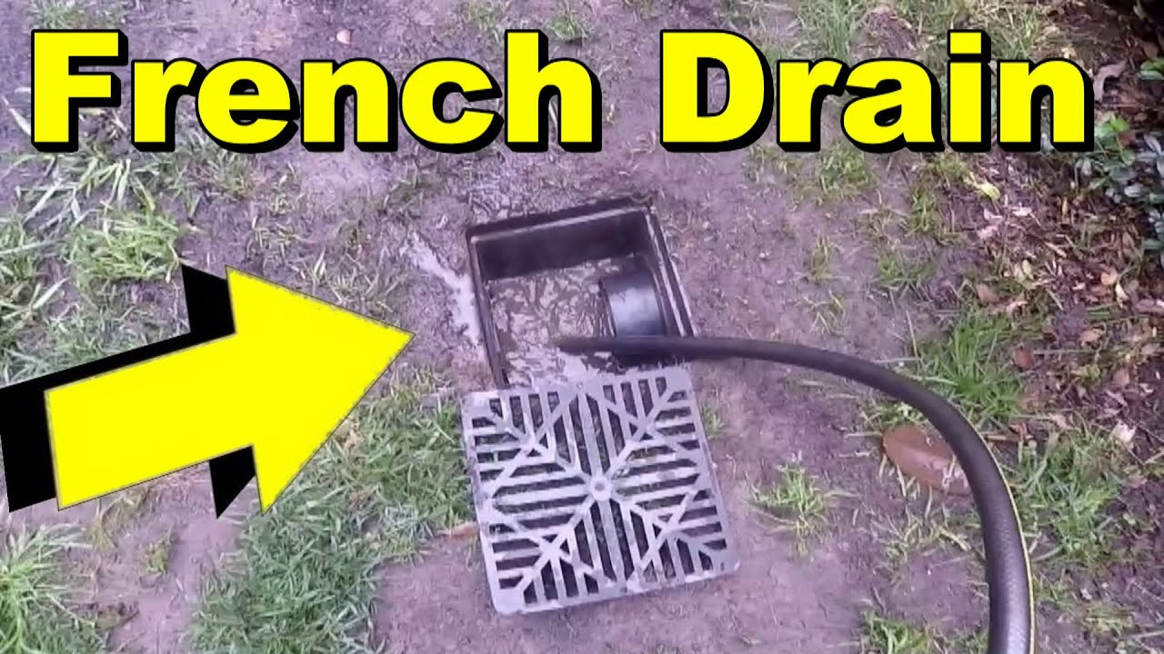 French Drain Clean Amp Maintenance Tips Youtube