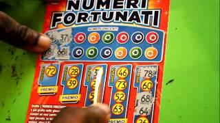 4 biglietti di gratta e vinci numeri fortunati