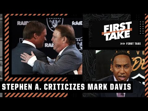Stephen A. says Mark Davis told on himself with his Jon Gruden response | First Take