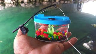 BEST MICRO Fishing Challenge with WORLD'S SMALLEST Rod and ...