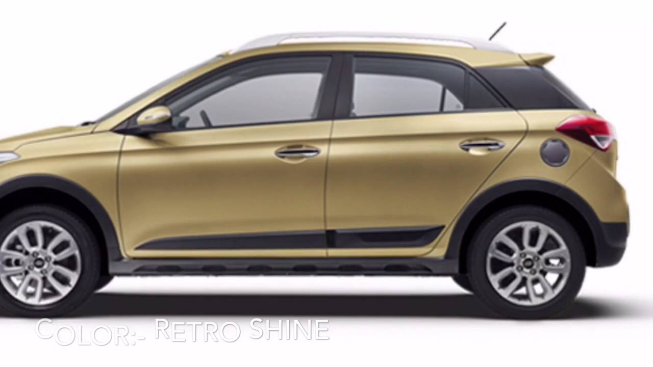 Hyundai I20 Active Colors Youtube