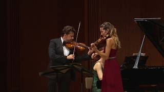 Shostakovich 5 Pieces for 2 Violins & Piano - J.Rachlin - S. McElravy - V. Nepomnyashchaya (excerpt)