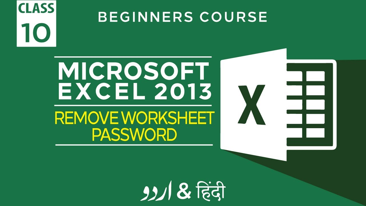 Workbooks excel 2013 unprotect workbook : 10 - Microsoft Excel Tutorial 2013 - How to remove password from ...