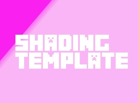 Full download tutorial how to shade you minecraft skin for Minecraft shade template