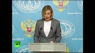 Мария Захарова проводит еженедельный брифинг (13 октября 2016)
