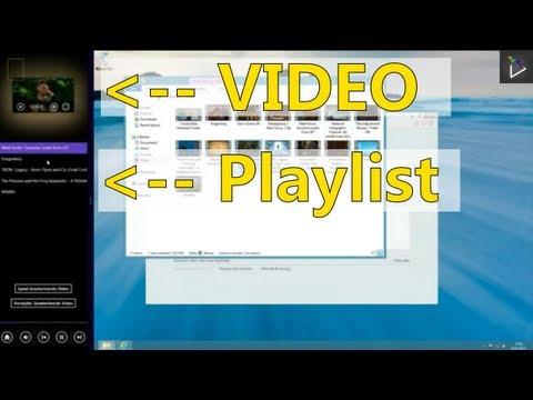 Aurora Player - Windows Store App: Playlist