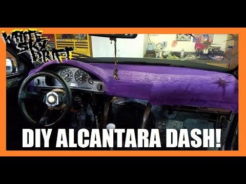 HOW TO WRAP YOUR DASH! DIY ALCANTARA/MICRO SUEDE