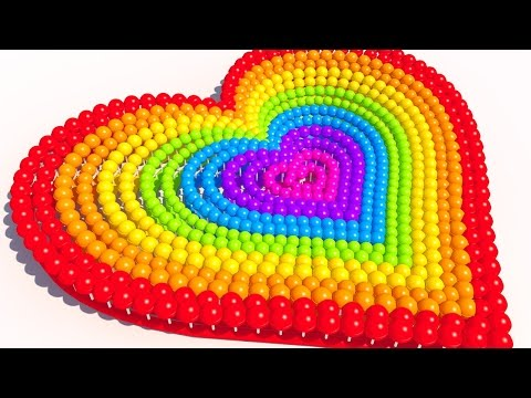 Thumbnail: Learning Colors with A lot of 3D Lollipops Heart for Kids and Children