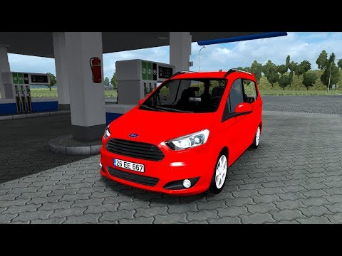 [ETS 2 Mod] Ford Tourneo Courier 1.0 | Euro Truck Simulator 2 1.30