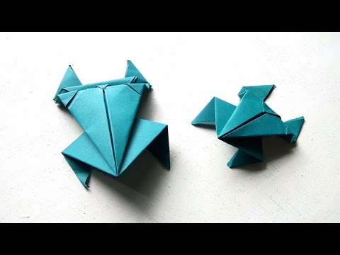 Paper Frog - How To Make a Paper Jumping Frog