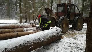 Přibližování dřeva 2018- s LKT 80- Leopoldovy Hamry