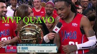 Quavo NBA Celebrity Allstar Game Highlights!!!! MVP