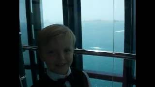 Glass Lift to 27th floor Burj Al Arab