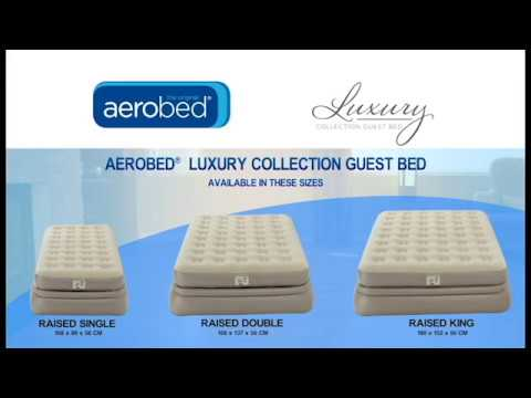 Aerobed Sleepsound Raised Double Inflatable Raised Airbed /& Pump 2 Year Warranty