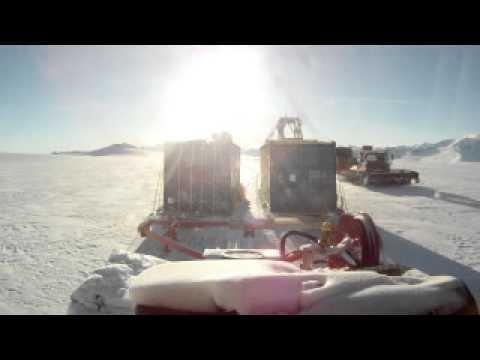 Tractor train from Union Glacier to Lake Ellsworth