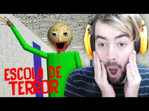 A ESCOLA É UM TERROR!!! | Baldi's Basics In Education and Learning (Jogo de Terror?)