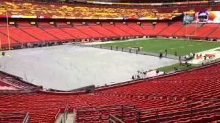Tarp Coming off of FedExField