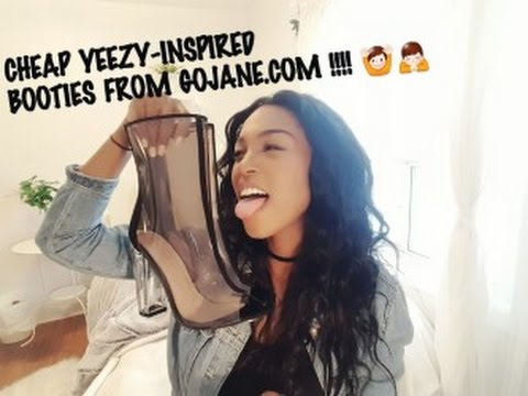 YEEZY INSPIRED SOCK BOOTS FOR CHEAP!!! - GOJANE.COM BOOTIES REVIEW/HAUL + HOW TO STYLE