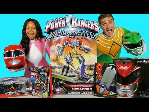 Power Rangers Toy Challenge Pink Ranger Vs Green Ranger !  || Toy Review || Konas2002