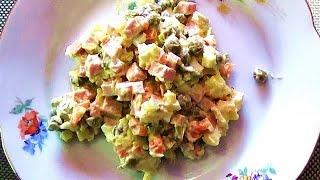 """ОЛИВЬЕ / Как приготовить салат """"Оливье"""""""