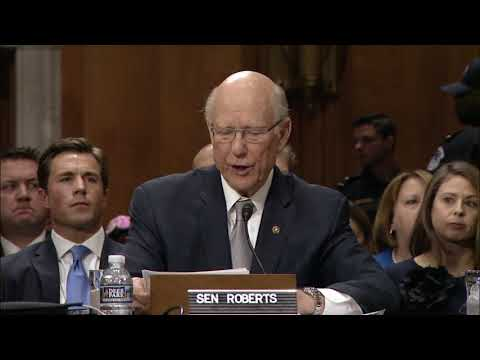 Senator Pat Roberts Introduces CIA Director Mike Pompeo to become Secretary of State