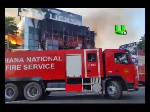 Fire guts City Lights branch at East Legon in Accra