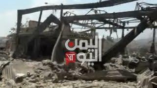 طائرات العدوان السعودي تستهدف قصر الشعب وملعب الصقر وعدداً من المواقع في تعز