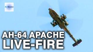 AH-64 Apache in Action: Hellfire Missiles, Hydra 70 Rockets, M230 Chain Gun Live-Fire