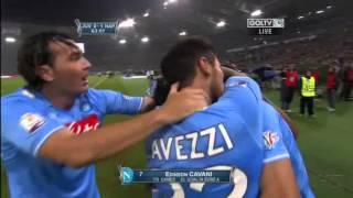Rigore di Edinson Cavani in finale di Coppa Italia 2011/2012 TELECRONACA ARGENTINA