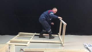 видео двухъярусную кровать из массива дерева