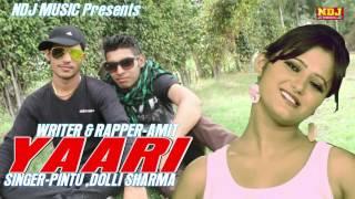 New Haryanvi Song| yaari | 2016 | Lattest Full Audio Song | Pinu Ft. Amit | NDJ Music