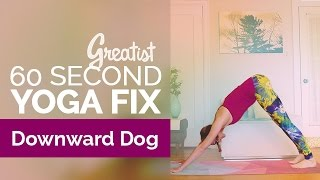 How to Do Downward Facing Dog | Yoga Alignment | Greatist 60-Second Yoga Fix: Adho Mukha Svanasana