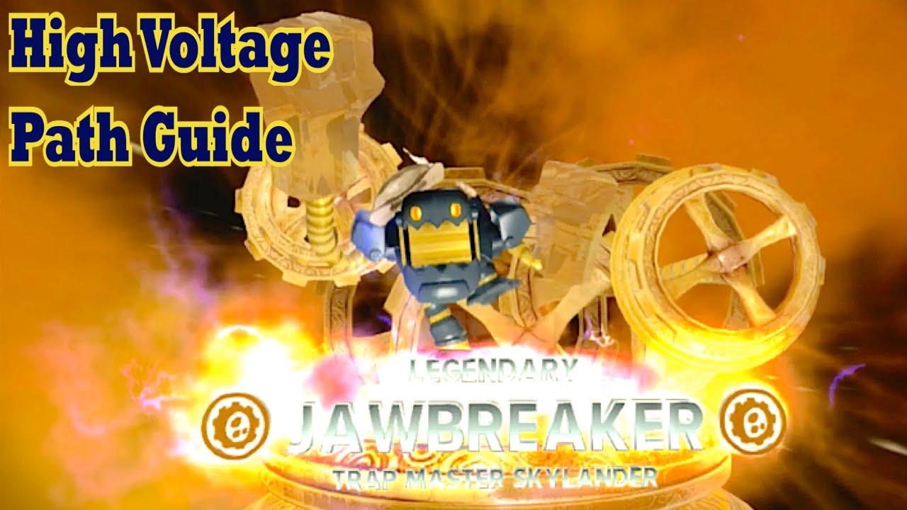Skylanders Trap Team - Jawbreaker - High Voltage Path Guide
