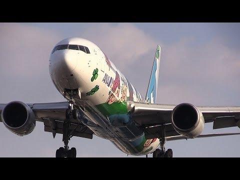 [Itami Airport landing] All Nippon Airways JA8674 Yume Jet 千里川土手撮影