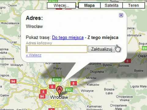 Mapy Google Wyznaczanie Trasy Youtube