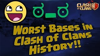 !!MUST WATCH!! The worst and most hilarious bases in Clash of Clans History! 2015 HD